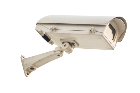 closed circuit: closed circuit camera on white background Stock Photo