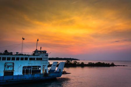 ferryboat: Ferryboat in twilight time