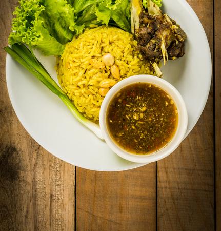 biryani: Biryani goat meat Stock Photo