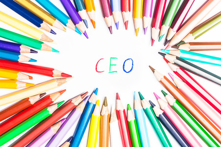 ceos: Colour pencils with draw  CEO Stock Photo