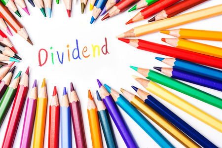 dividend: dividend drawing by  colour pencils