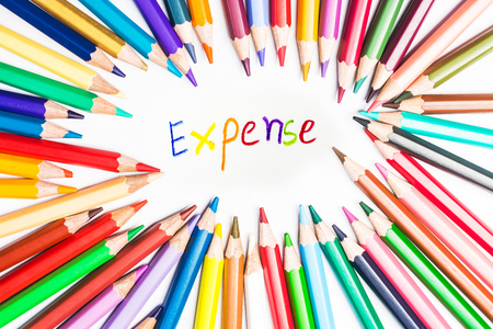 expense drawing by colour pencils