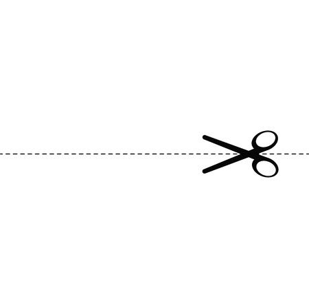 simple cross section: Scissors  vector