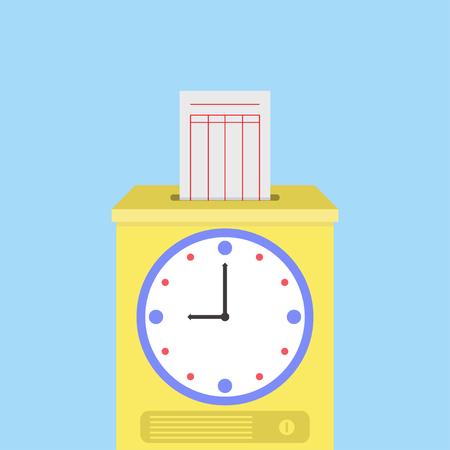 Zeit-Recorder Vektorgrafik