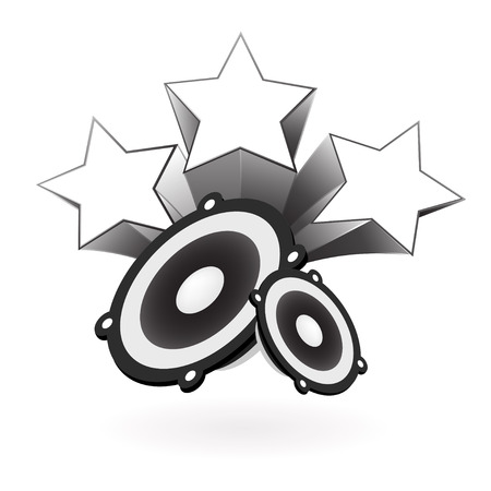speaker with star