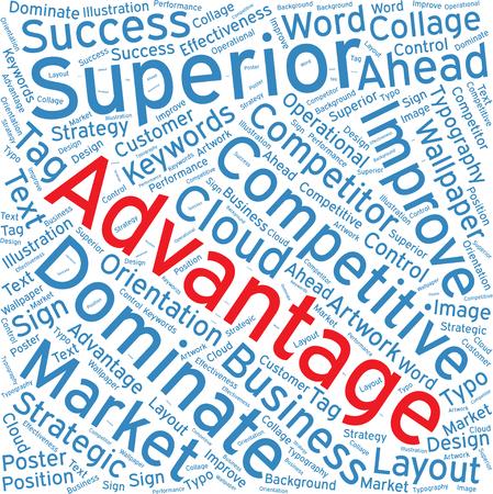 advantage: advantage,Word cloud art  background Illustration