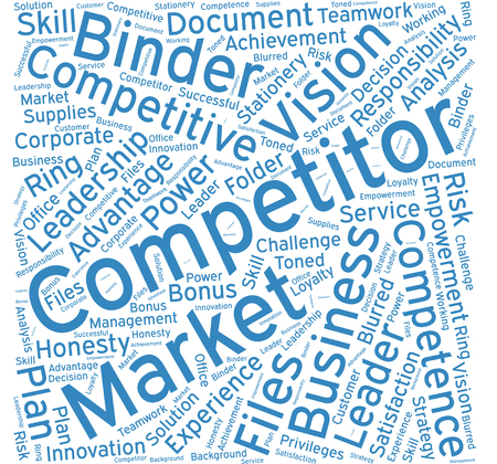 competitor: Competitor,Word cloud art  background