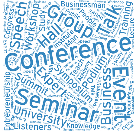 lecture hall: Conference ,Word cloud art  background