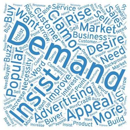 on demand: Demand ,Word cloud art  background