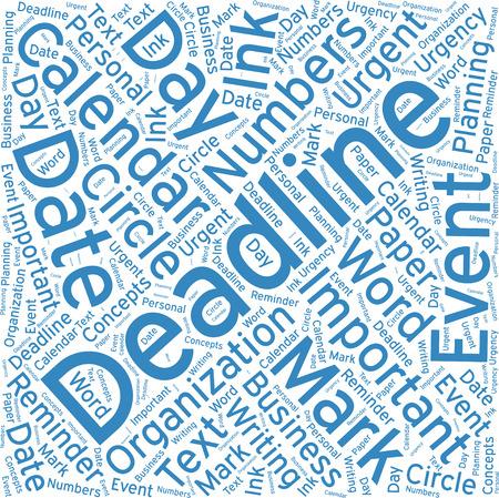 deadline: Deadline ,Word cloud art  background