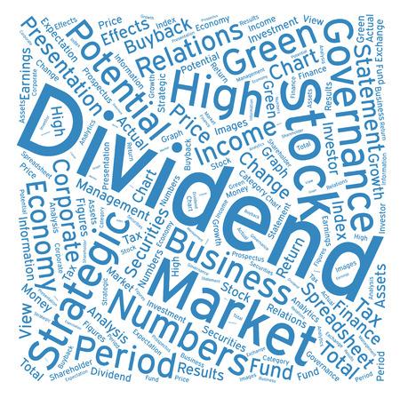 dividend: Dividend ,Word cloud art  background Illustration