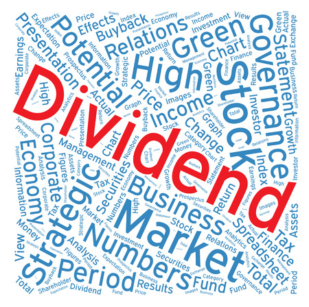 dividend: Dividend ,Word cloud art  background Illustration