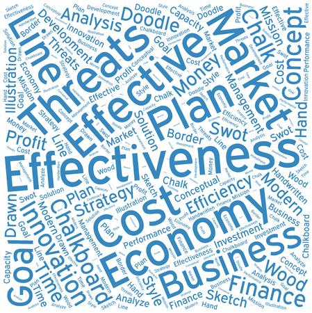 effectiveness: Effectiveness ,Word cloud art  background Illustration