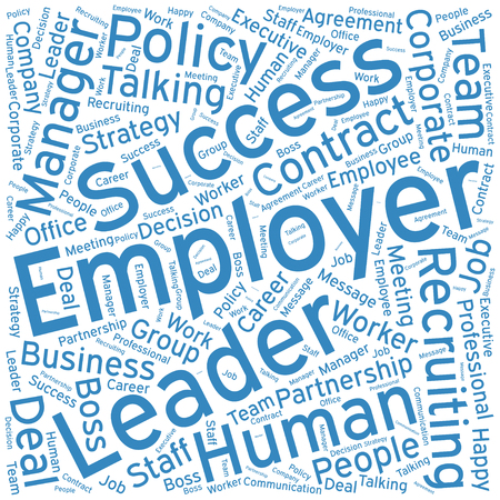 employer: Employer,Word cloud art  background