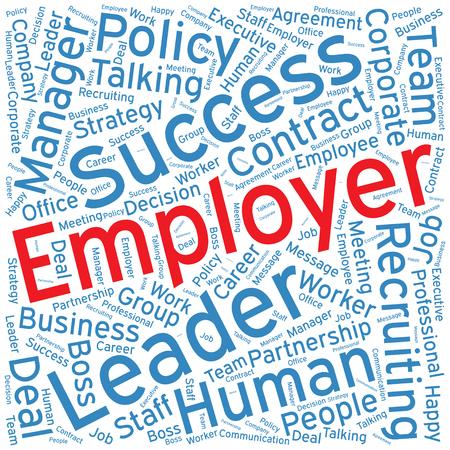 Arbeitgeber, Word-Cloud-Kunst Hintergrund