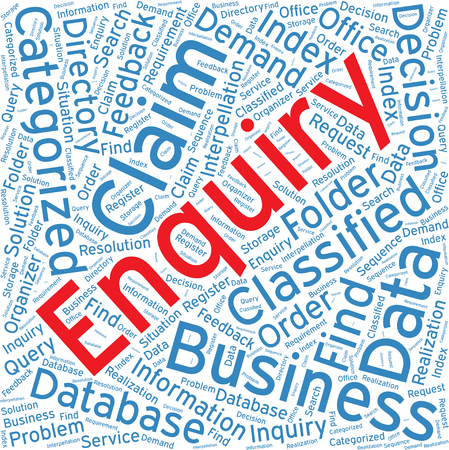 enquiry: Enquiry,Word cloud art  background