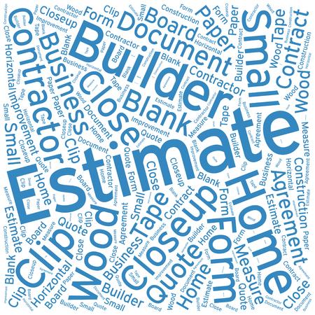 estimate: Estimate ,Word cloud art  background