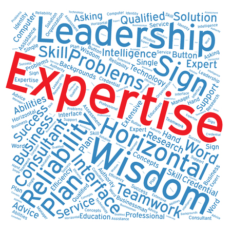 expertise: Expertise ,Word cloud art  background Illustration
