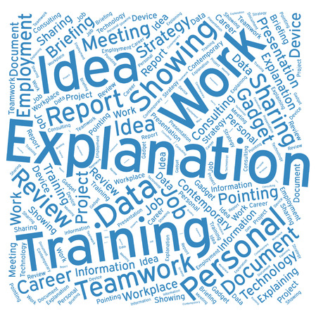 expect: Explanation ,Word cloud art  background Illustration