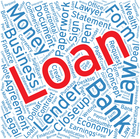 christmas debt: Loan,Word cloud art  background Illustration