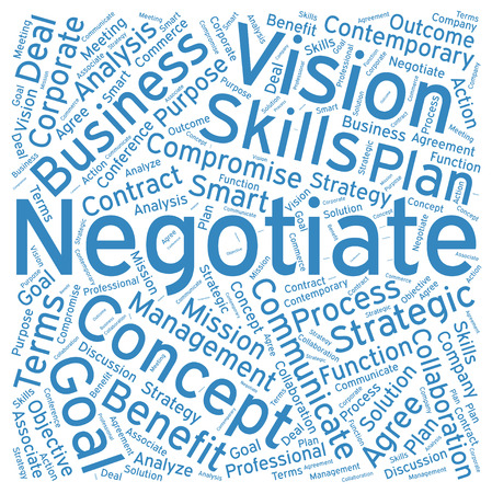 negotiate: Negotiate ,Word cloud art  background