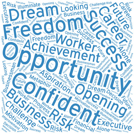 opportunity sign: Opportunity ,Word cloud art  background