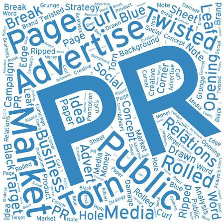 PR ,Word cloud art  background