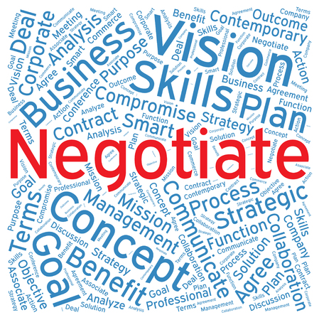 compromise: Negotiate ,Word cloud art  background