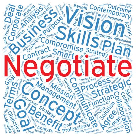 negotiate: Negotiate ,Word cloud art  background