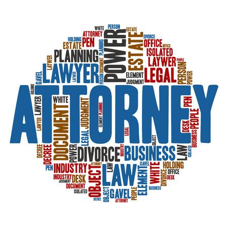 abogado: Abogado, Nube de palabras de fondo de arte Vectores