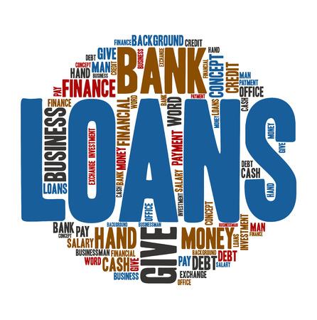 loans: Loans,Word cloud art  background