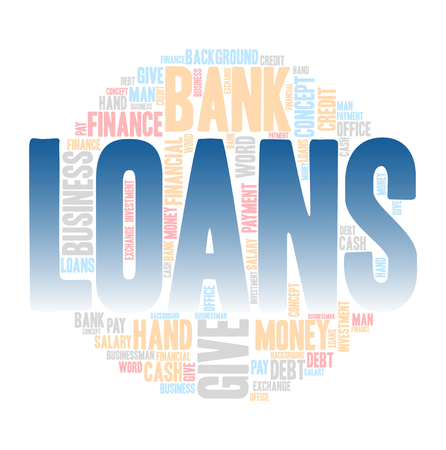 loans: Loans,Word cloud art background