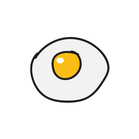 fried: Fried egg,Hand drawn icons