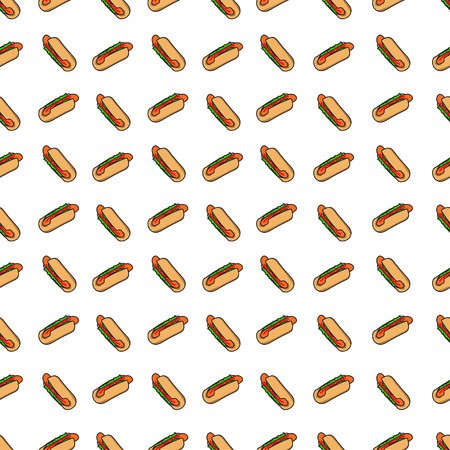 hotdogs: hotdogs,Hand drawn icons Illustration