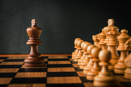 man trapped: chess game