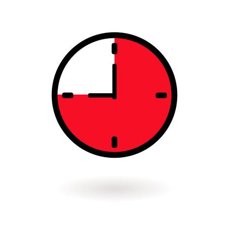 area: clock ,area time Illustration