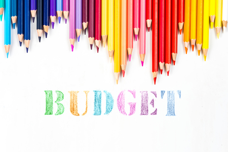 budgets: budget drawing by colour pencils