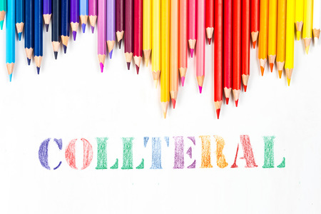 collateral: collateral drawing by colour pencils Stock Photo