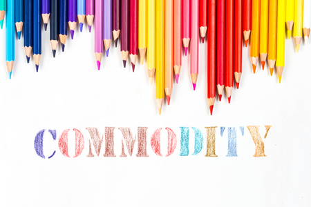 Commodity drawing by colour pencils