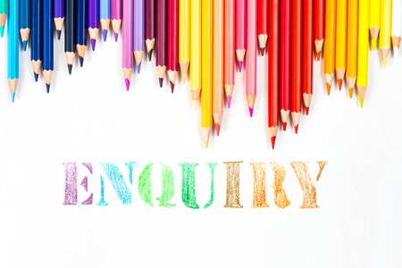 Enquiry  drawing by colour pencils