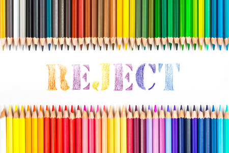 reject: reject drawing by colour pencils