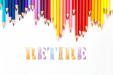 retire: retire drawing by colour pencils