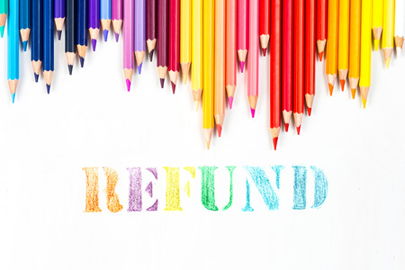 tax tips: refund drawing by colour pencils Stock Photo