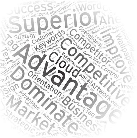 key words art: advantage, Word cloud art background