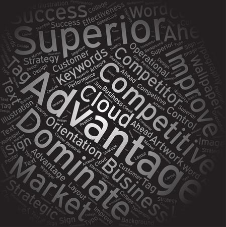 advantage: advantage, Word cloud art background