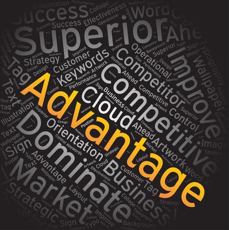 advantage: advantage,Word cloud art background