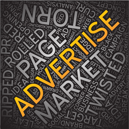 advertise: advertise, Word cloud art background Stock Photo