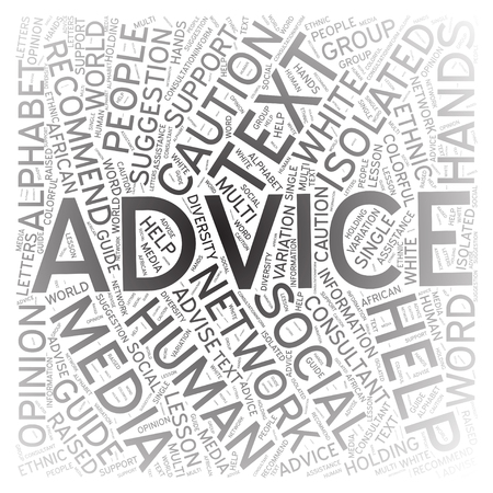 therapy group: Advice, Word cloud art background Stock Photo