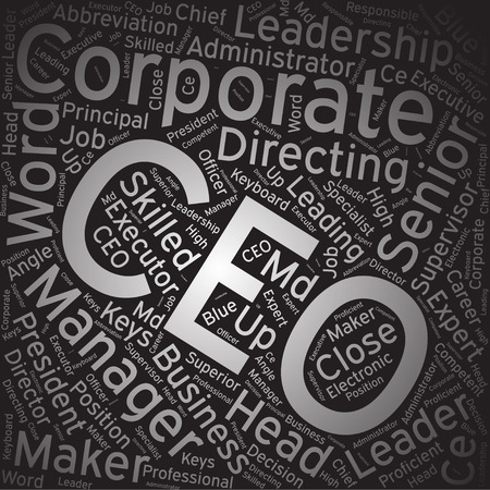 ceo: CEO, Word cloud art background