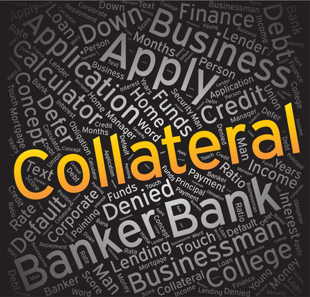 repayment: Collateral, Word cloud art background